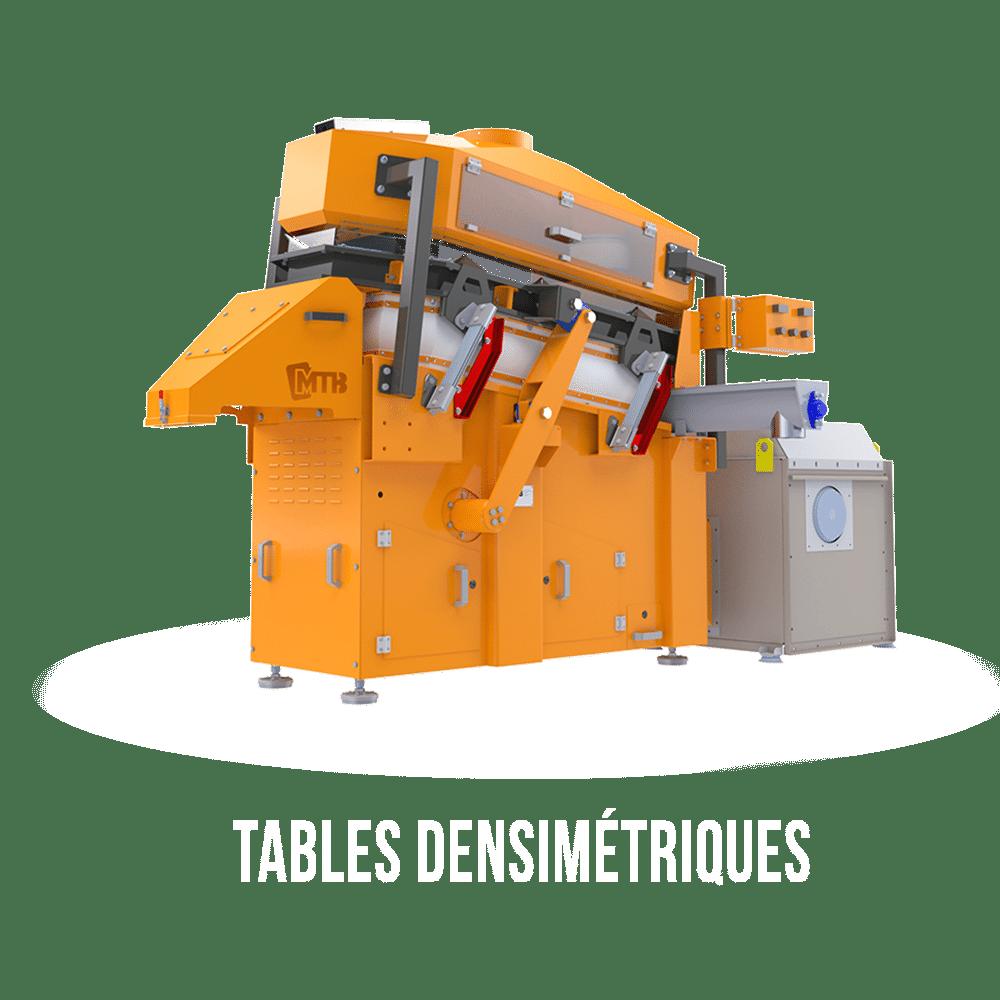 tables densimétriques